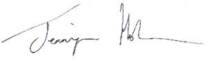 Jennifer Holmes Signature